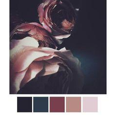 Color Combinations: navy / dark marine blue / deep mauve / dusty pink / light pink #2LColorCombos