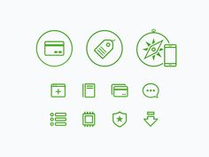 Dribbble - Green glyphs by Ludwig Pettersson