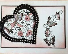 Honey Doo Crafts Acrylic Stamps - Sample Gallery Honey Doo Crafts, Creative Cards, Cool Cards, Be My Valentine, Crafts To Do, Paper Art, Stampin Up, Card Making, Butterfly