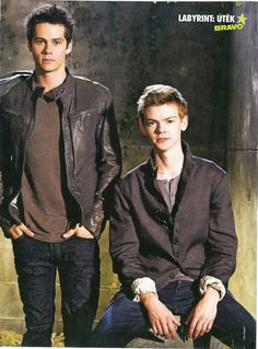 Dylan O'Brien and Thomas Brodie Sangster. - picture of the Czech magazine BRAVO.