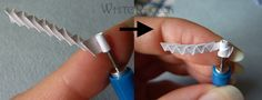 How To Do Paper Quilling | Be gentle with the zigzag part, dont press it too hard, but hold it ...