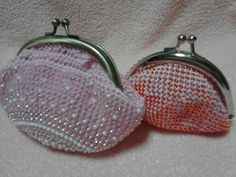がま口財布 beaded coin purse