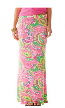 Lilly Pulitzer Marnie Maxi Column Skirt in Multi All Nighter