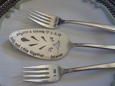 would be cute for anniversary or baby set ~Weddings Wedding Decor Wedding Table Setting Silver by trinkets818, $64.00