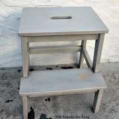 How to get an Easy Worn Look for an Ikea Stool - The Boondocks Blog
