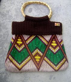 Bamboo Tree AfroCrochet Ankara Clutch large by iladesigns on Etsy, $40.00