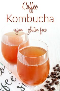 Coffee Kombucha (vegan) - This kombucha combines two great drinks into one. It's the perfect pick me up for anytime of the day!
