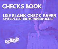 No more order checks books / check book register. Get blank check paper. Print checks online on demand. Cost fraction and never run out checks. Any printer Order Checks Online, Payroll Checks, Checkbook Register, Blank Check, Free Checking, Writing Software, Sms Text, Register Online, Business Checks