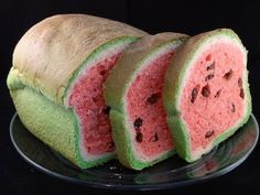 Raisin Bread That Looks Like Watermelon !- video- Chef Shows A Unique Way To Make Bread Cute Food, Good Food, Yummy Food, How To Make Raisins, Pain Aux Raisins, Chef Shows, Bread Art, Raisin Bread, Food Trends