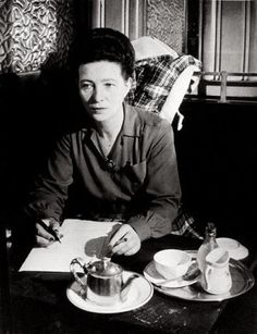 Google Image Result for Simone de Beauvoir with coffee http://4.bp.blogspot.com/_aLNA1ox5acg/TIe6ka3VmoI/AAAAAAAAB6U/3sYK_DiJr80/s400/medium_simone_ds_beauvoir__brassai.jpg