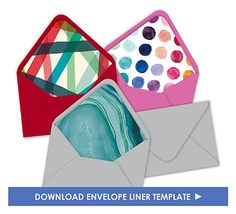 Envelope Liners Template For You To Print A Home  Tropical