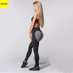 eb1b352e4bcec On Sale Sexy Heart Yoga Pants Women Patchwork Yoga Leggings Women Push Up  Leggins Sport Women Fitness Legging Running Pants Women
