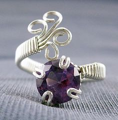 tutorial...on this beautiful wire work ring. I love, love it. I have got to try to make this ring.
