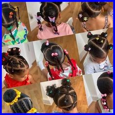 Black Baby Girl Hairstyles, Little Girls Natural Hairstyles, Toddler Braided Hairstyles, Kids Curly Hairstyles, Toddler Braids, Hairstyle Ideas, Hair Ideas, Girl Hair Dos, Little Girl Ponytails