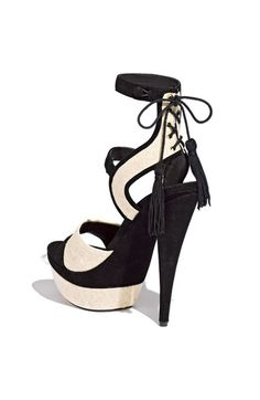 Check out the back detailing on the Blake Sandal {Rachel Zoe}