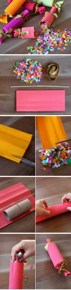 DIY Confetti Party Poppers | Click Pic for 20 DIY New Years Eve Party Ideas…