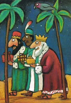 Titel: Drie Koningen . Design: Axel Scheffler Postcard Illustrations, Illustration Art, Christmas Deco, Crochet Christmas, Three Wise Men, Sunday School Crafts, Kings Day, Epiphany, Childrens Books