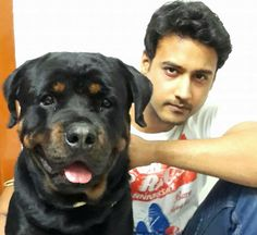 With his dog..love unconditional. #AdoptAPetwithYashD