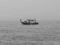 Benajarafe. Pesquero frente a la playa. 7/2016