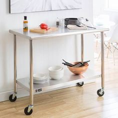 stainless steel rolling cart - Google Search