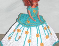 Crochet Fashion Doll Barbie Pattern 652 by JudysDollPatterns