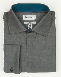 Mixed Media Italian Collar Shirt