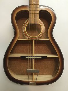 Guitar Shelf  31. Re purposed acoustic guitar with by aRRtstudios