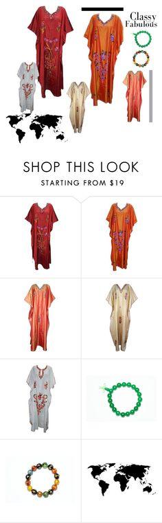 Bohemian Caftan Kashmiri House Dress by tarini-tarini on Polyvore