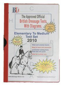 British Dressage Test Sheets Elementary to Medium