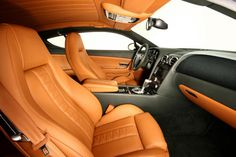 Le Mansory Bentley Continental GTZ Interior orange and black silver grey custom GT2 3 awesome door panels salerno saddle beige tan sand
