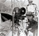 Charlie Chaplin on the set of The Gold Rush