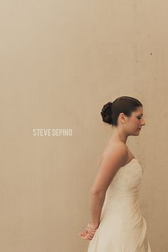 Steve DePino Photography, wedding photography, bridal portrait, strapless dress, bride hair updo, bridal updo, bridal portrait, profile portrait