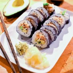 Spicy Crab Sushi Rolls Recipe main-dish, dairy free, nut free, sugar free, italian christmas, dinner, asian, japanese with 13 ingredients