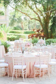 cream and blush wedding reception