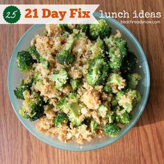 25 21 Day Fix Lunch Ideas