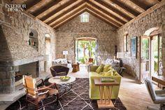On a Croatian island in the Adriatic Sea, architect Antonio Zaninovic, designer Lucien Rees Roberts, and landscape architect David Kelly repurposed 15th-century ruins into a con...