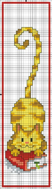 Chart - Cat - Point De Croix - Cross Stitch. Blog: http://broderiemimie44.canalblog.com/