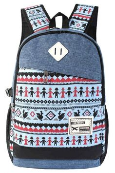 Fashion Graphic Print Canvas Backpack