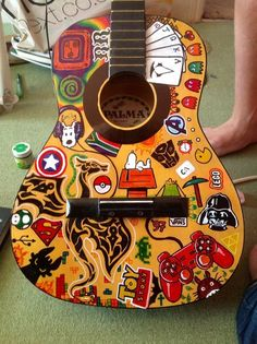 Sharpies on a guitar love it!