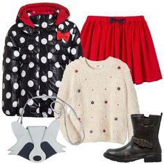 Outfit Pois e fiocchetti