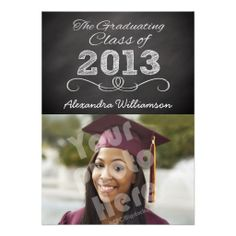 Class of 2013 Chalkboard Style Announcement