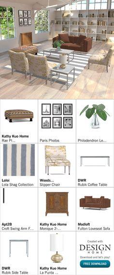 Created with Design Home! Loveseat Sofa, Paris Photos, Love Seat, House Design, Patio, Create, Wood, Outdoor Decor, Home Decor