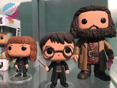 Funko Pop Vinyl Harry Potter - 7 figures, including Harry, Hermione, Ron, Dumbledore, Snape, Hagrid (6 inch), and Voldemort.  Coming in July 2015
