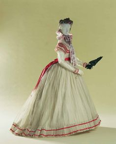 c. 1866 sheer dress from the Kyoto Costume Institute