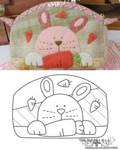 1 million+ Stunning Free Images to Use Anywhere Japanese Patchwork, Patchwork Bags, Quilted Bag, Bag Quilt, Bunny Bags, Applique Quilt Patterns, Animal Quilts, Quilting, Coin Bag