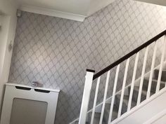 Graham & Brown Elinor Dove grey House motif Smooth Wallpaper - B&Q for all your home and garden supplies and advice on all the latest DIY trends Grey Houses, Diy Wallpaper, Graham Brown, Dove Grey, Home And Garden, Home Appliances, Mirror, Bedroom, House Appliances