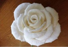 ergahandmade: Big Crochet Rose + Diagrams // idk how to crochet yet but my bfs mum does so //the most beautiful crochet rose free chart - looking for something to crochet?The only sad part about receiving a bouquet of flowers is the knowledge that th Appliques Au Crochet, Crochet Flower Patterns, Crochet Motif, Knit Crochet, Free Crochet Rose Pattern, Pattern Flower, Crochet Diagram, Thread Crochet, Crochet Crafts