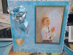 boy's communion card