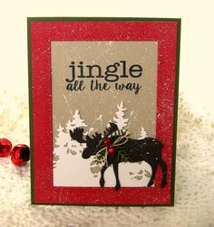 The challenge at Christmas Card Challenges this week is a photo:           I was inspired to make a card with a snowy scene. I...