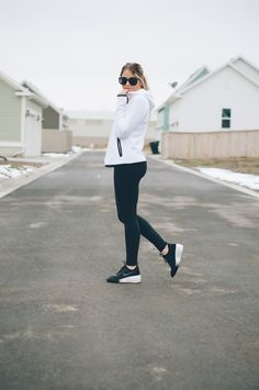 black and white workout gear